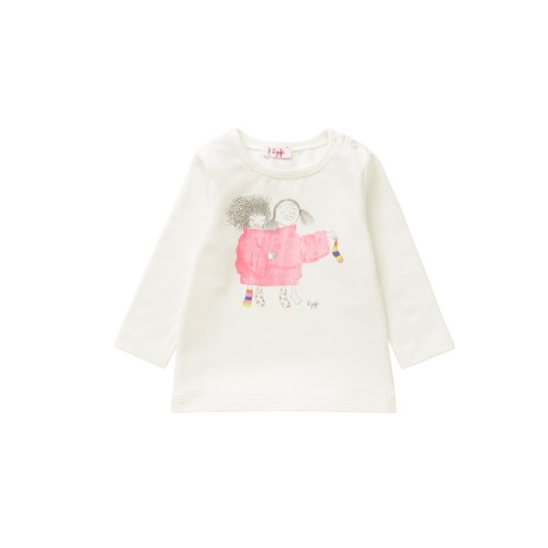 T-SHIRT MILK/ FUXIA