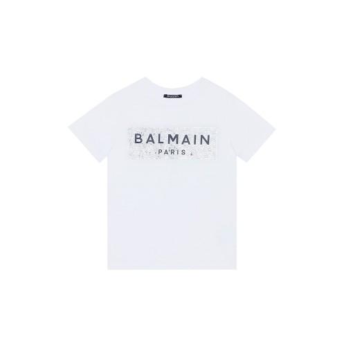 T-SHIRT ALB BALMAIN PERLE